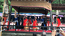 糸魚川市に伝わる「根知山寺の延年」 (おててこ舞)